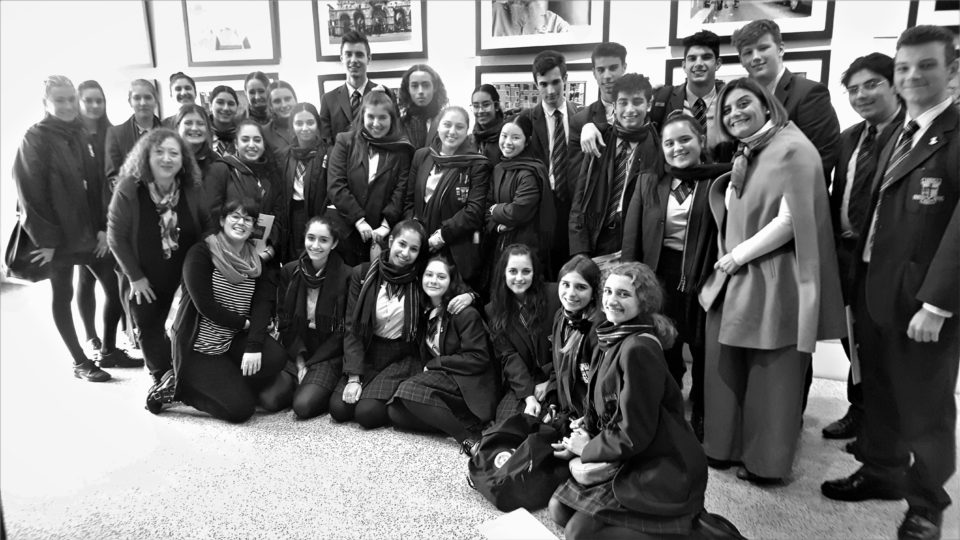 Italian students at the Museo Italiano